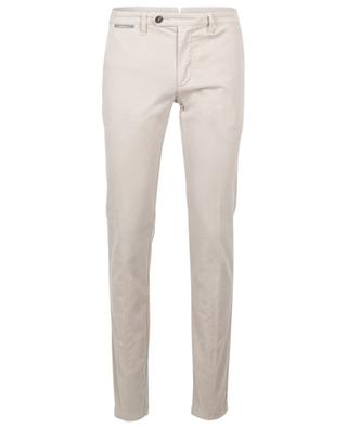 Tapered cotton-blend trousers ELEVENTY