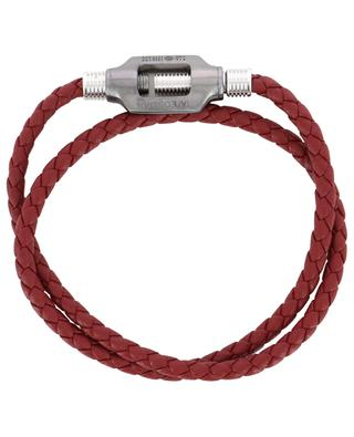 Bracelet en cuir tressé Double Bolt Medium TATEOSSIAN