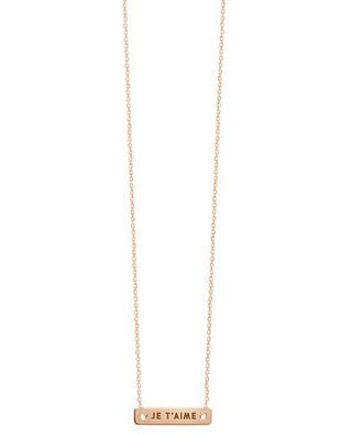 Halskette aus Roségold Bonnie & Clyde VANRYCKE