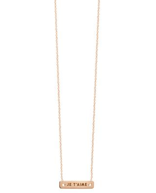 Bonnie & Clyde pink gold necklace VANRYCKE