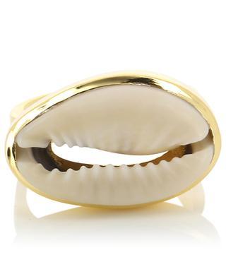 Large Natural Puka Shell ring TOHUM