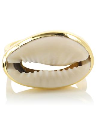 Large Natural Puka Shell ring TOHUM