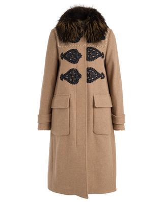 Mantel aus Wolle und Pelz BAZAR DELUXE