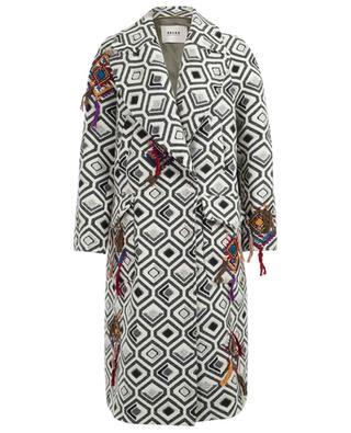 Long cotton and virgin wool blend coat BAZAR DELUXE