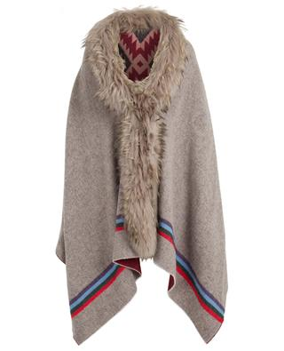 Wool and fur stole BAZAR DELUXE