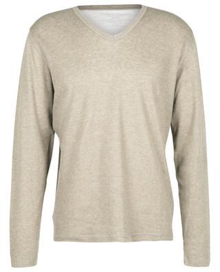 Langärmeliger Pullover aus Baumwolle und Kaschmir MAJESTIC FILATURES