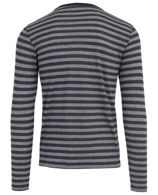 Striped cotton and cashmere T-shirt MAJESTIC FILATURES