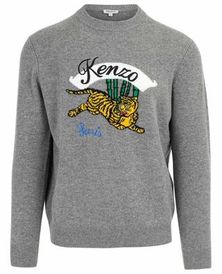 Pull en laine Jumping Tiger KENZO