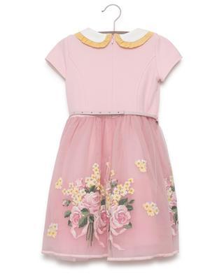 Short-sleeved embroidered dress MONNALISA