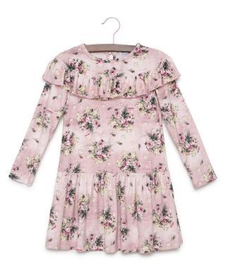 A-förmiges Kleid aus bedrucktem Samt MONNALISA