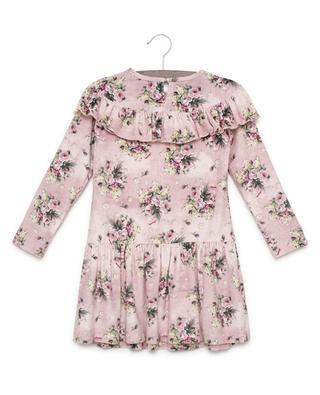 Printed A-line velvet dress MONNALISA
