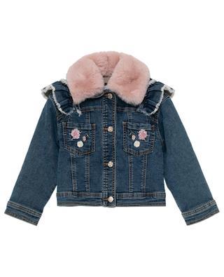 Embroidered jeans jacket MONNALISA