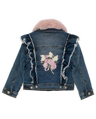 Embroidered jeans jacket MONNALISA