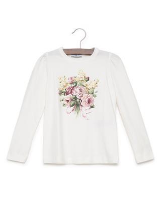 Printed cotton blend T-shirt MONNALISA