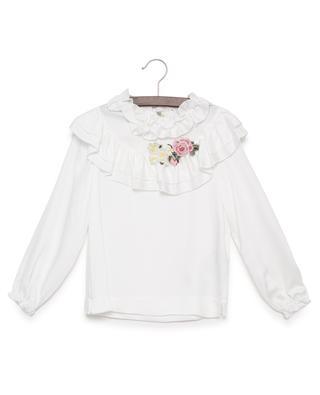 Embroidered viscose blouse MONNALISA