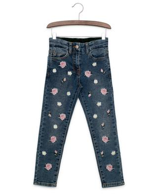 Embroidered slim fit jeans MONNALISA