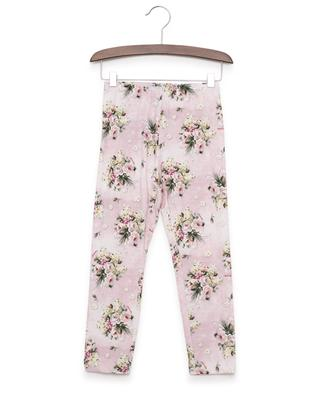 Printed cotton blend leggings MONNALISA