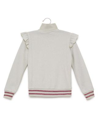 Sweat-shirt brodé zippé MONNALISA