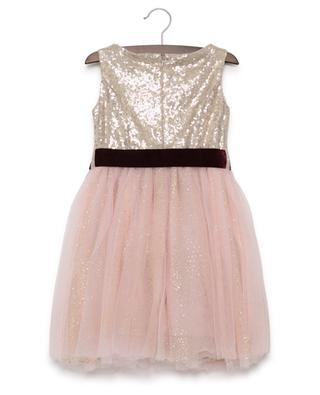 Ärmelloses Kleid aus besticktem Tüll MONNALISA