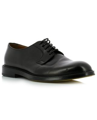 Crimp smooth leather lace-up derby shoes DOUCAL'S