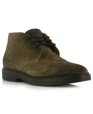 Point suede lace-up ankle boots DOUCAL'S