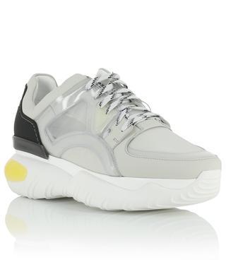 Mesh, leather and vinyl sneakers FENDI