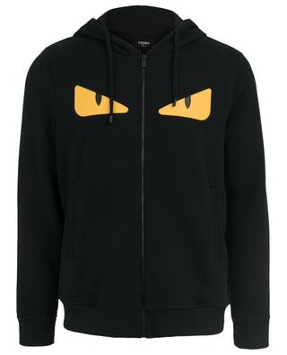 Wool and cotton zippered sweatshirt FENDI