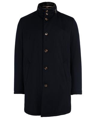 Virgin wool coat with fur GIMO'S