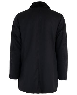 Mantel aus Schurwille und Kaschmir mit Fell GIMO'S
