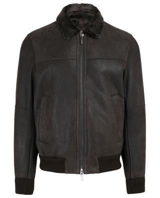 Suede flight jacket GIMO'S