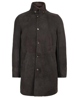 Suede and lamb shearling coat GIMO'S