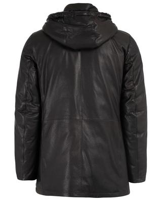 Padded leather coat GIMO'S