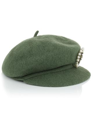 Wool bakerboy hat with brooch TWINSET