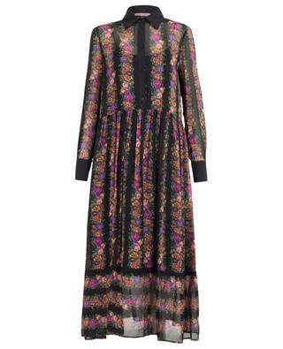 Robe longue ornée de fleurs TWINSET