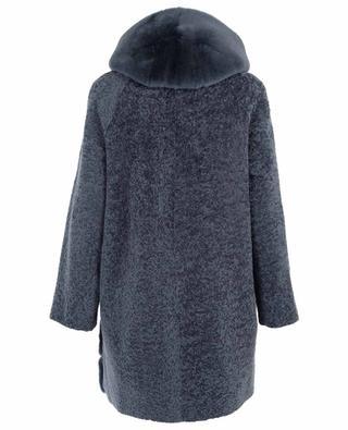 Wendbarer Mantel aus Schafsfell und -leder SUPREMA