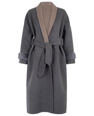 Manteau en laine et fourrure SUPREMA