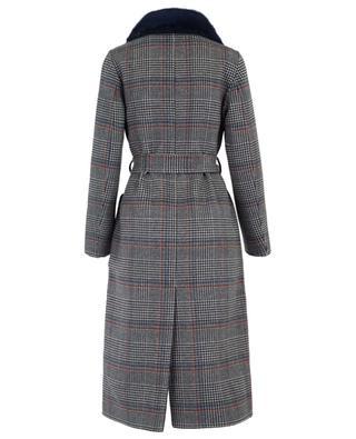 Wendbarer Mantel aus Wolle und Pelz SUPREMA