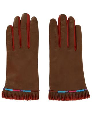 Lamb leather gloves with contrasting details ETRO