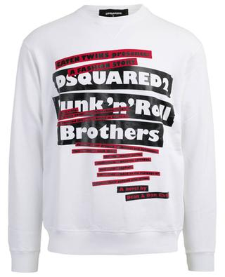 Printed cotton sweatshirt DSQUARED2