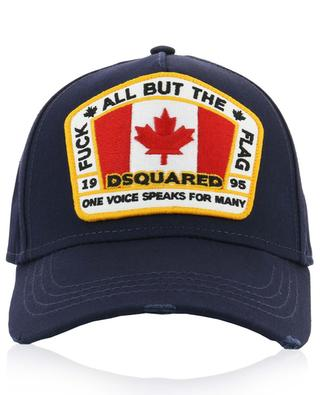 Used-Look-Baseballkappe Canadian Flag DSQUARED2