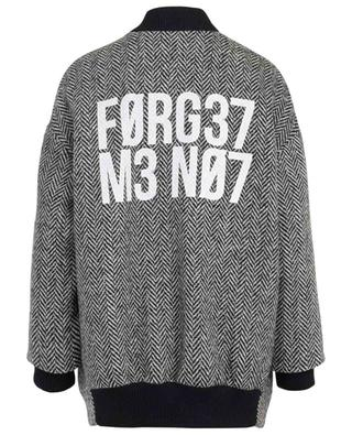 Bomber long en laine Forget Me Not RED VALENTINO