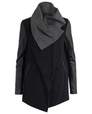 Vane wool and leather coat MACKAGE