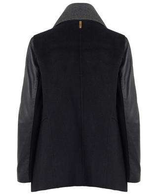 Manteau en laine et cuir Vane MACKAGE
