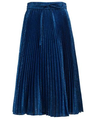 Midi-length pleated Lurex skirt RED VALENTINO