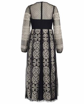 Robe longue en tulle brodé RED VALENTINO