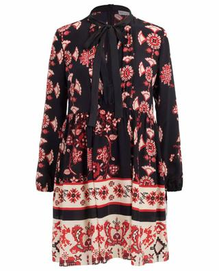 Snow Flower Ramage short silk dress RED VALENTINO