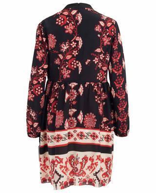 Robe courte en soie Snow Flower Ramage RED VALENTINO