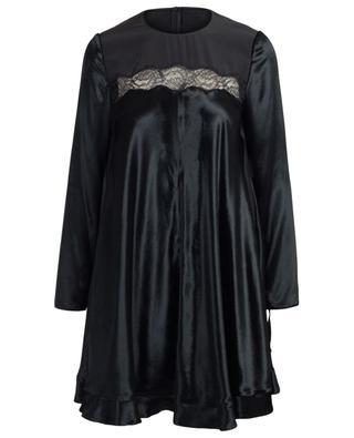 Robe trapèze courte en velours et dentelle RED VALENTINO