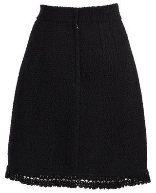 Virgin wool and silk blend A-skirt DOLCE & GABBANA