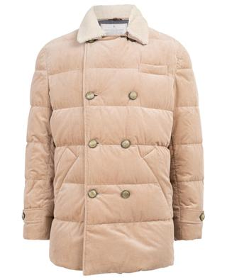 Down jacket with shearling collar BRUNELLO CUCINELLI